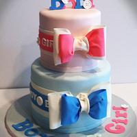 Gender reveal cake.  by Skmaestas