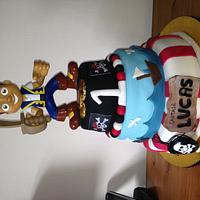 First 3 tier cake - Jake & the Neverland Pirate Cake & Cupcakes