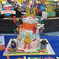 Sesame Place birthday competition cake