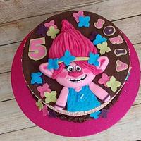Poppy the Troll cake (finally! lol)