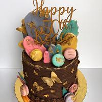 Modern cake 50th