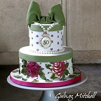 "Painted hat box cake ""Evelyn"""