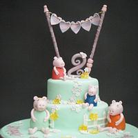 Pepper Pig Birthday Cake