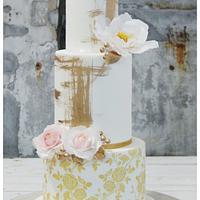 Golden Dream Wedding Cake