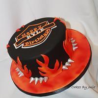 Airbrushed Harley Cake