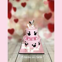 Baby minniemouse cake