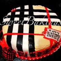 Burberry Themed Cake