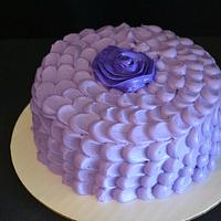 My first petal effect cake!