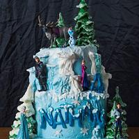 Disney Frozen Themed cake