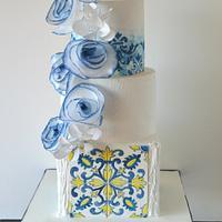 Portuguese tile cake
