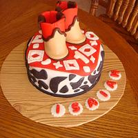 Western Boot Cake