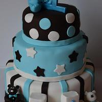 Tuxedo Bear Cake