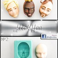 Man's Face Silicone Mold by MLADMAN