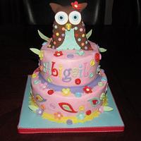 Owl Birthday Cake by Jaybugs_Sweet_Shop
