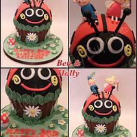 Ben & Holly Giant Cupcake by ClarasYummyCupcakes