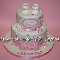 Baptism cake baby girl