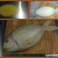 cake shaped like a fish by sugarblast