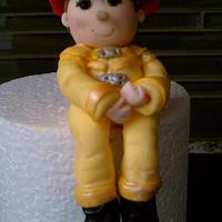 fireman theme cake topper