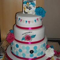 50's style cake