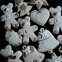 White Christmas Gingerbread cookies