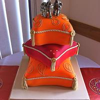 Cushion wedding cake