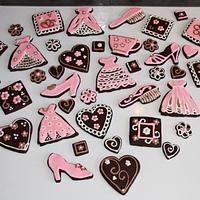 Pink & Brown Cookies