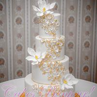 Magnolia wedding cake!