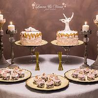 Romantic cakes and cup cakes