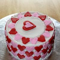 Small Valentine's Day Cake