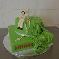 Communion boy Cake