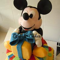 Mickey first birthday cake