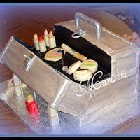Make-up Train Cake Cake by Slice of Sweet Art