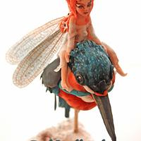 Little fairy on kingfisher, Away with the fairies collaboration