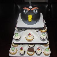 Angry Birds Cupcake Tower