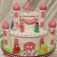 2 Tier princess castle cake
