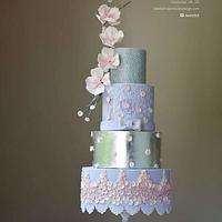 Abed Mahfouz inspired gown for Cake Central