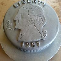 Quarter (25 cent) Cake by Michelle Allen