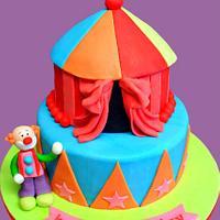 Circus Joint Birthday Cake