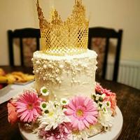 Flowers and sugar crown