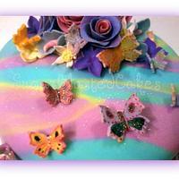 Butterfly cake by FabulousinFondant