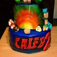 Angry birds cake, idea came from someone on here. not sure who.