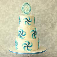 """Ocean Blue""-Engagement Cake"