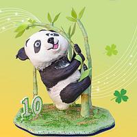 Playful Panda Cake!