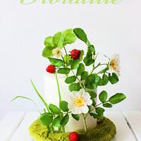 Strawberry Wild Rose Cake