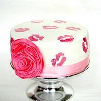 Kiss cake by verjaardagstaartenbestellen.nl by Linda