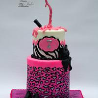 Gravity Nail Polish Cake by Cakes By Julie