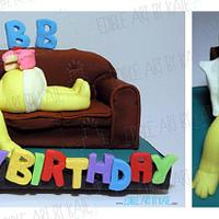 Lazy Homer Cake by Kate Lau