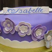 Purple Flowers by Art Piece Cakes
