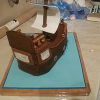 Pirate Cake by jens cakes