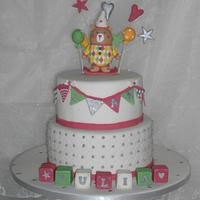 Teddy baptism cake